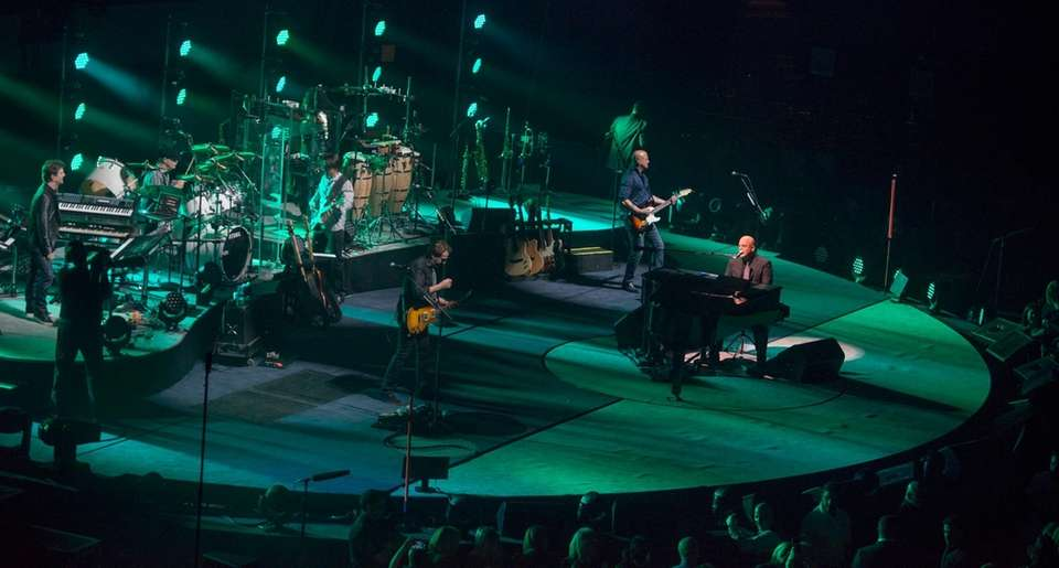 Billy Joel and his band perform on the