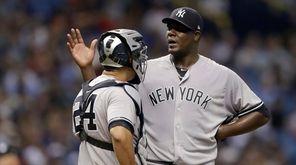 New York Yankees starting pitcher Michael Pineda talks