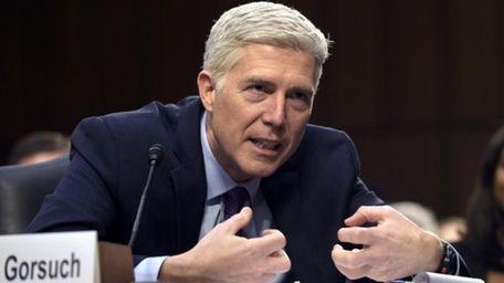 Supreme Court Justice nominee Judge Neil Gorsuch testifies