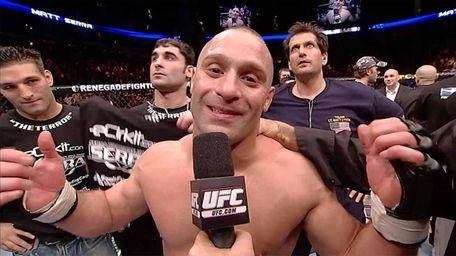 Matt Serra at UFC 69 after knocking out