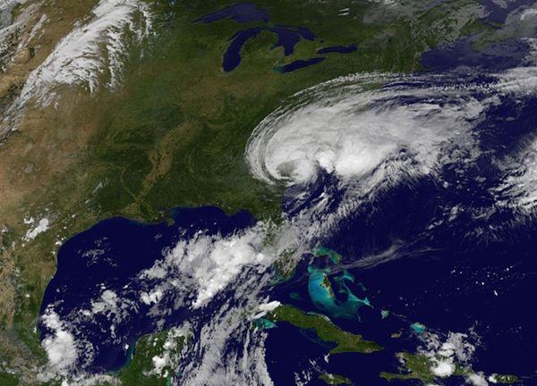 This NASA-NOAA GOES East satellite photo taken on