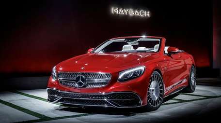 The Mercedes-Benz Maybach S650 limited edition convertible is