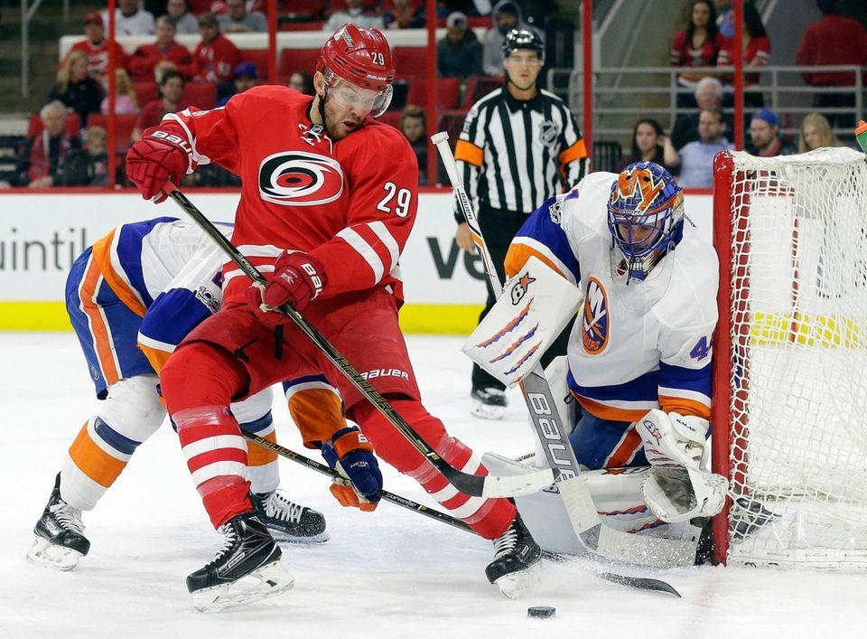 New York Islanders goalie Jaroslav Halak, of Slovakia,