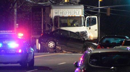 Nassau County police are investigating a crash involving