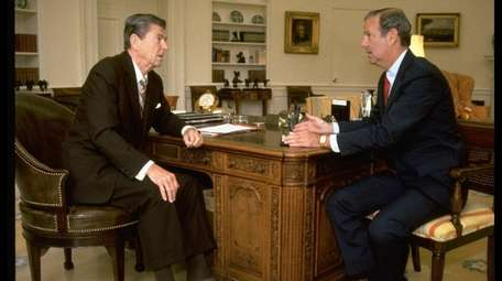 President Ronald Reagan and his chief of staff