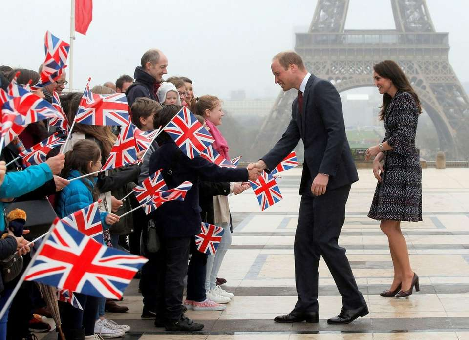 Prince William and Kate, Duchess of Cambridge, meet