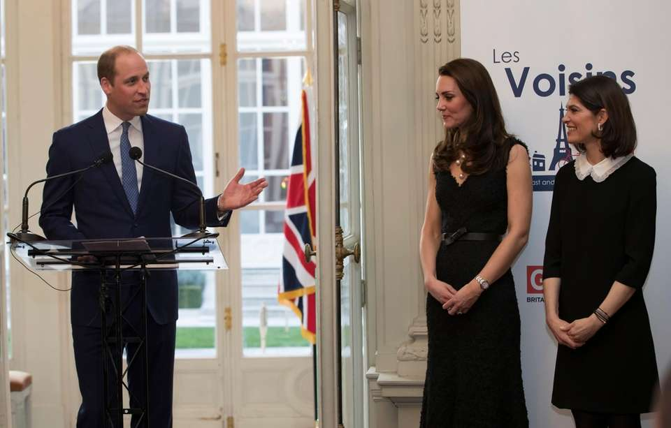 Kate, Duchess of Cambridge, center, and the wife