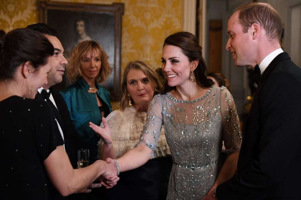 Prince William and Kate, Duchess of Cambridge, arrive