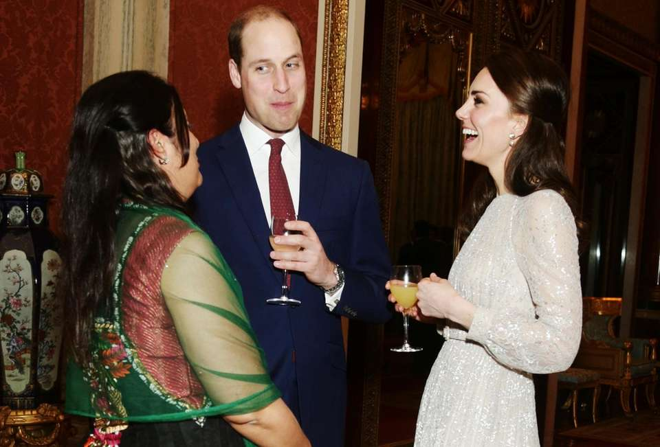 Britain's Prince William, and Kate, Duchess of Cambridge,