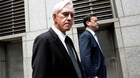 Professional gambler Billy Walters, forefront, was convicted Friday,