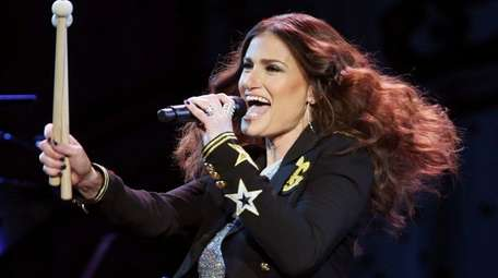 Idina Menzel takes the stage at the Nassau