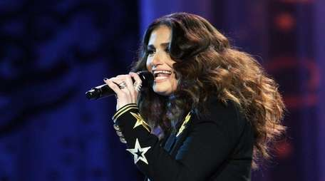 Idina Menzel takes the stage Friday night, April