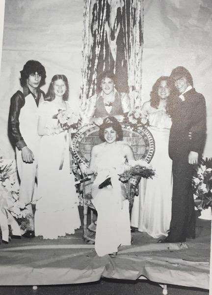 Donna Guardino, seated, reigns as junior prom queen