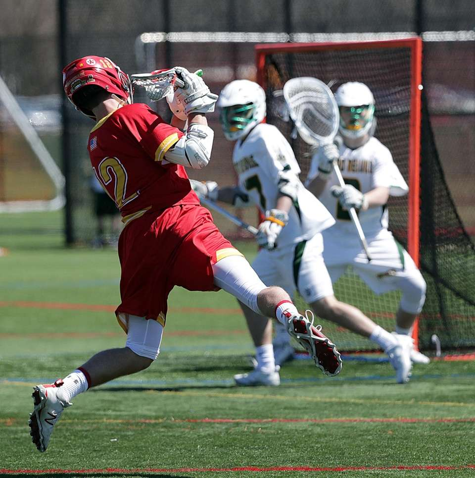 Chaminade's Matthew Chmil (12) rifles a shot from