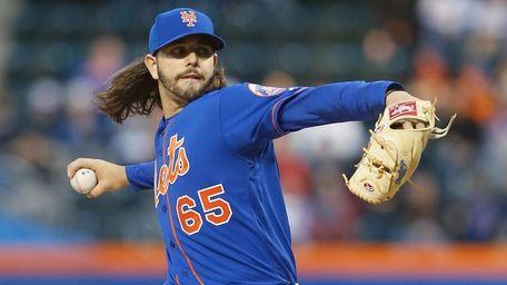 Robert Gsellman, #65, of the New York Mets