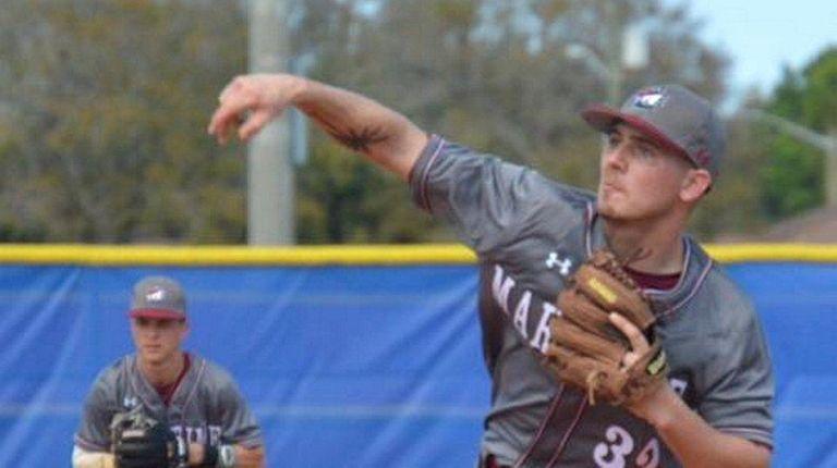 Freshman pitcher Travis Bruinsma, from Connetquot High School,