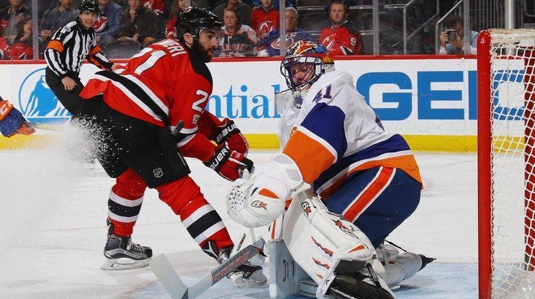 Jaroslav Halak, #41, of the New York Islanders