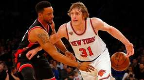 Ron Baker, #31, of the New York Knicks