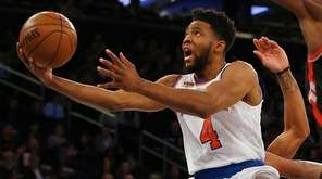 Chasson Randle of the New York Knicks goes