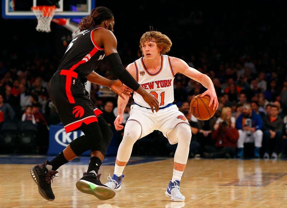 Ron Baker, #31, of the New York Knicks