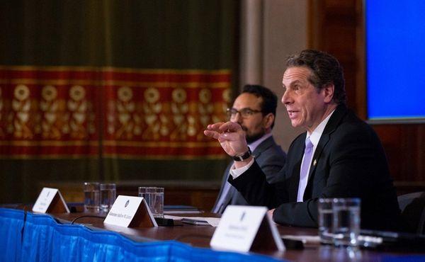 Gov. Andrew M. Cuomo speaks about the progress