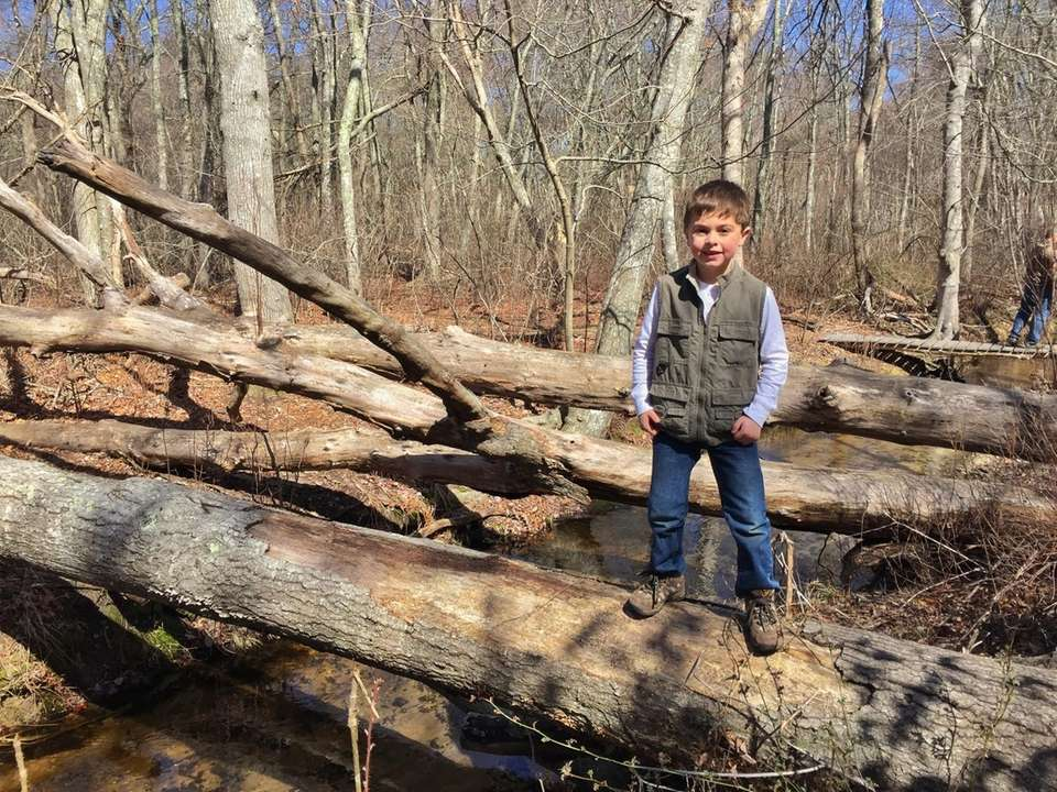 Junior naturalist Logan Canonico, age 6 from Wading