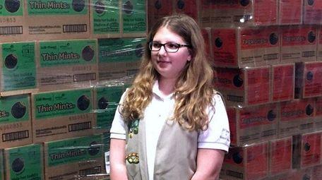 Isabella Inzinna, a seventh-grader at Alfred G. Berner