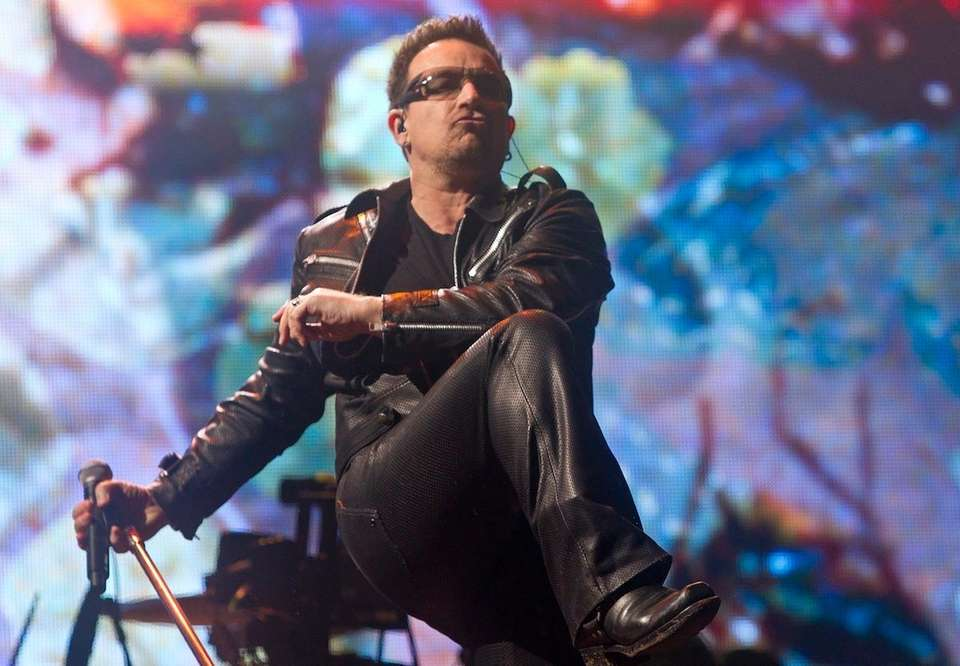 U2 frontman Bono was born May 10, 1960.