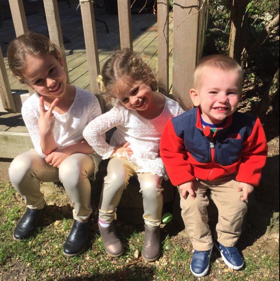 Liliana 5, Ella 3 and Brian Jr. 1,