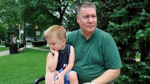Floral Park resident, Paul Walsh and his son,