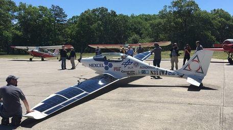 Luminati Aerospace unveiled a solar-electric aircraft at Calverton