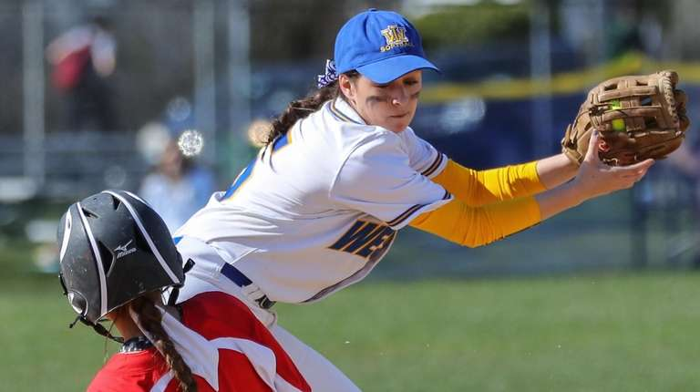 Justine Rizzo of East Islip gets under the