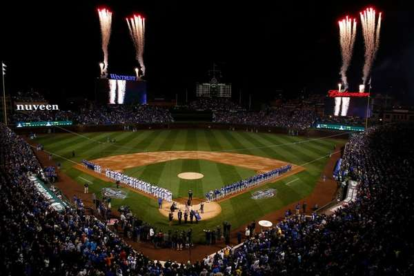 Cubs edge Dodgers on celebratory night at Wrigley Field