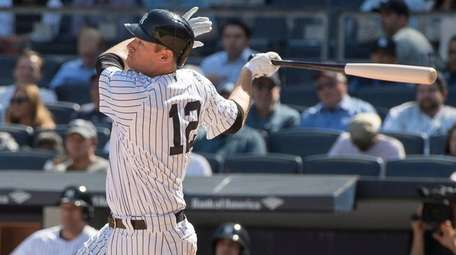 New York Yankees' Chase Headley hits a solo
