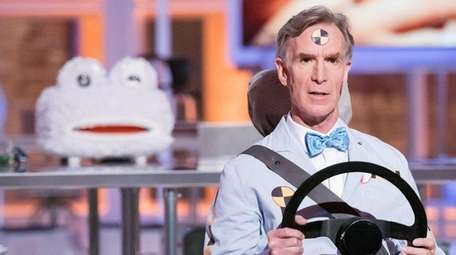 A scene from Bill Nye's new talk show,