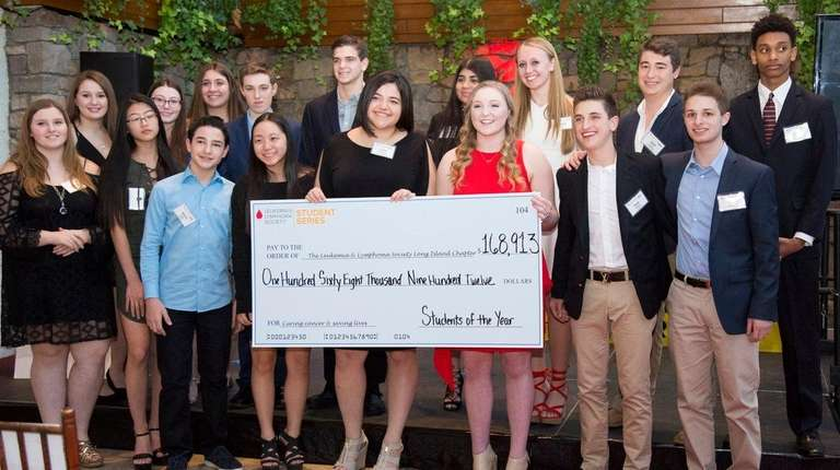 High school students were honored last month for