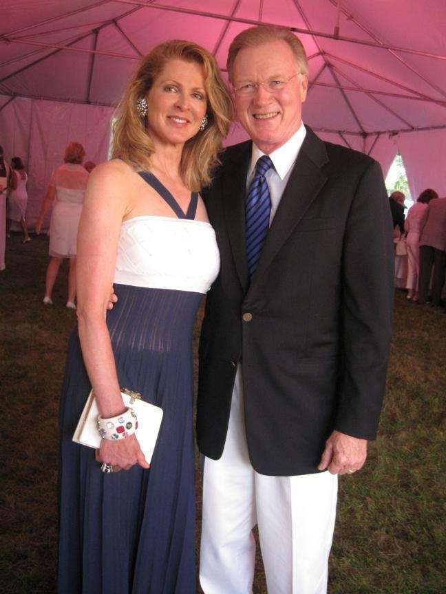 Ellen and Chuck Scarborough attended the Southampton Hospital's
