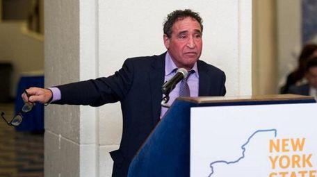 Philip Vetrano speak at a special meeting of