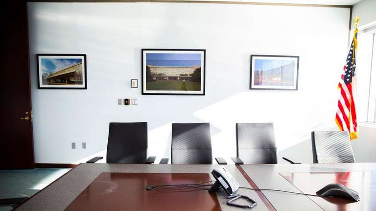 A conference room at Newsday used as a