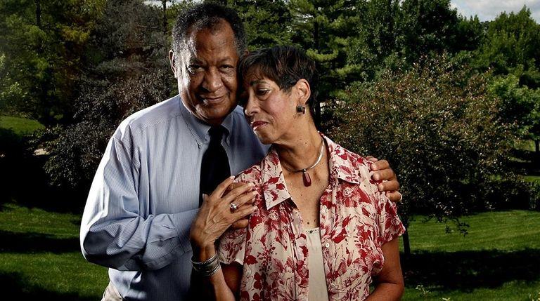 Fredrick and Patricia McKissack pose for a portrait
