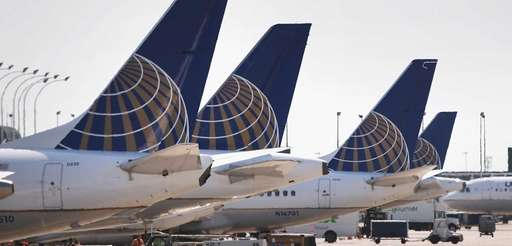 United Airlines planes are pictured at Chicago's O'Hare