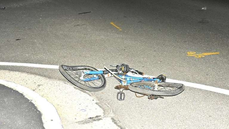 A bicycle is seen at the intersection of