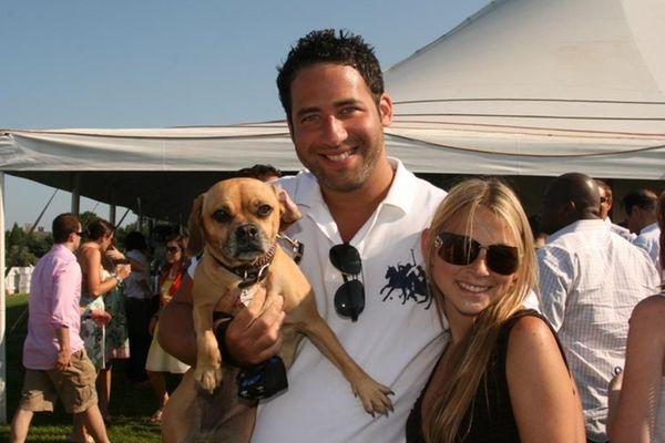Jared Epstein, Mindy Zwieback and their dog Madison