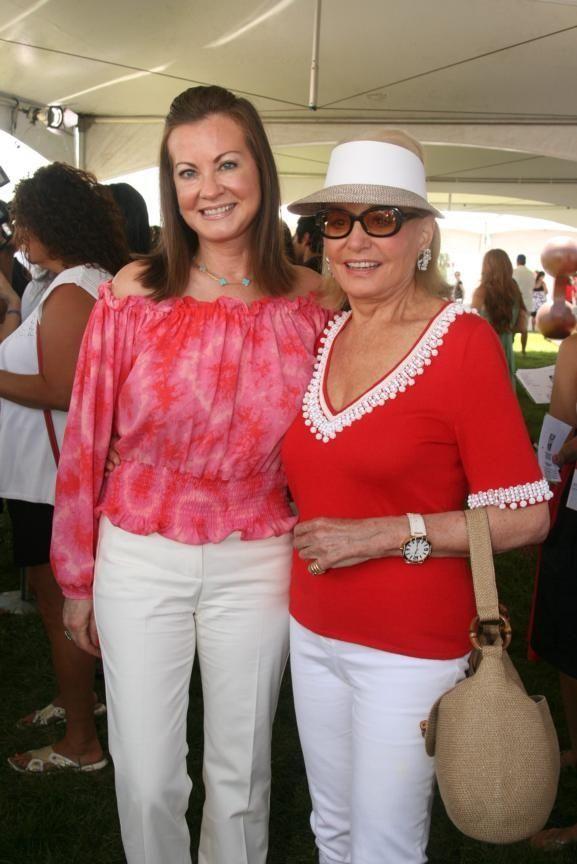 Judith Giuliani and Barbara Walters at Super Saturday