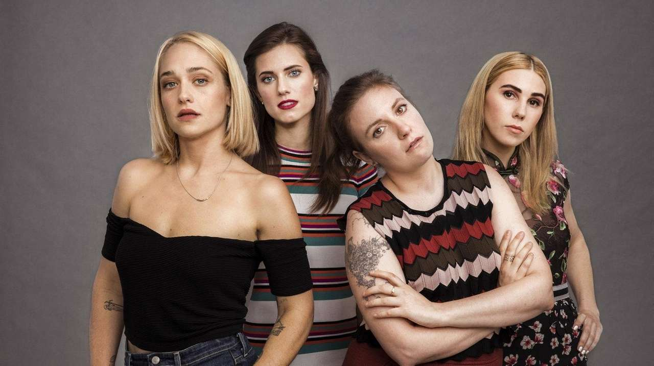 From left, Jemima Kirke, Allison Williams, Lena Dunham,
