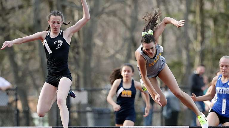 Mt. Sinai's Noreen Guilfoyle clears the first hurdle,