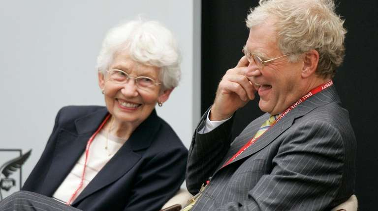 Letterman and his mother, Dorothy Mengering, at the
