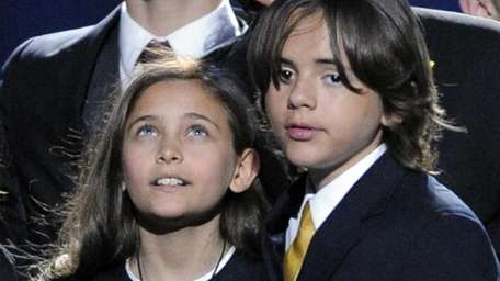 Paris Jackson, left, and Prince Michael Jackson I