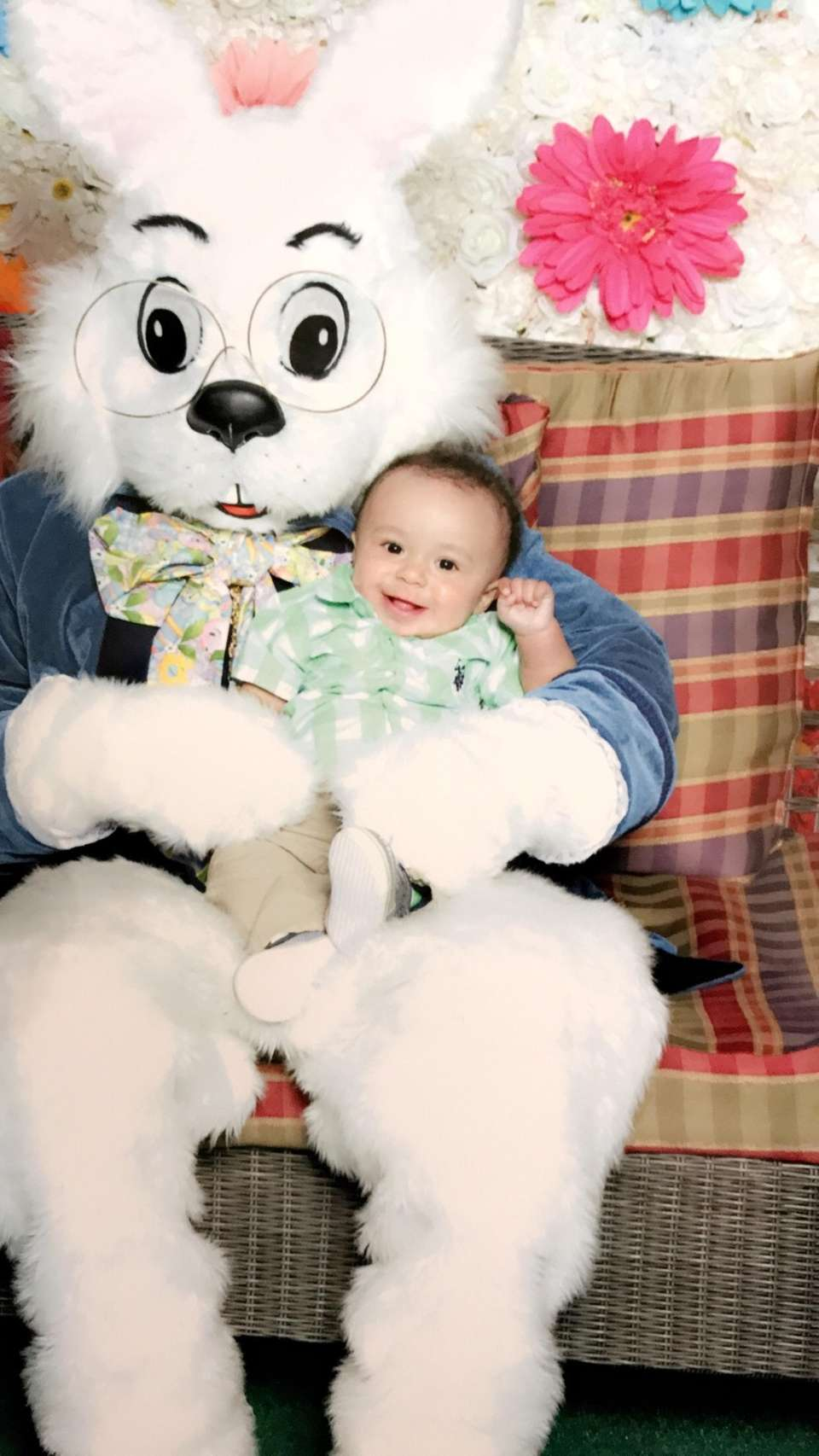 My 7 month old grandson Marcus 1st Easter