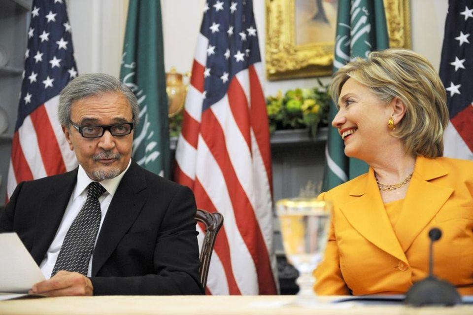 Saudi Foreign Minister Prince Saud al-Faisal and Secretary